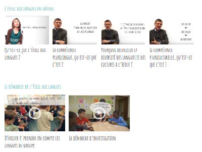 Vidéos sur l'éveil aux langues