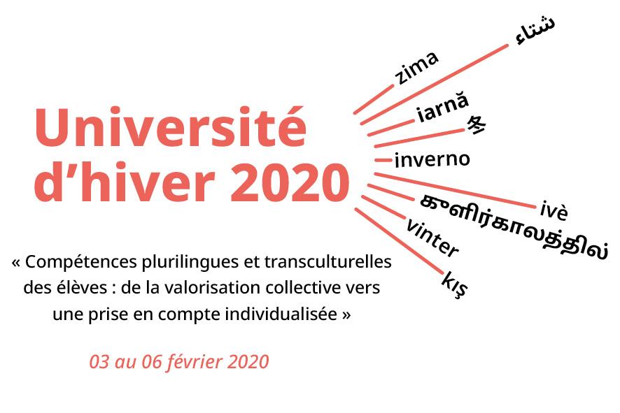 Université d'hiver 2020